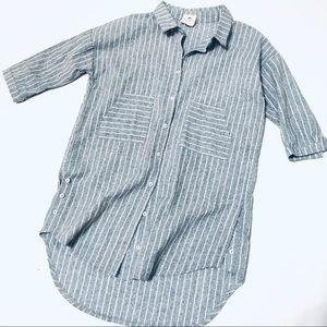 NWOT - Hayden Girls Blue & White Striped Tunic